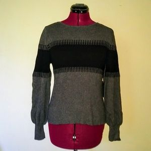 Vince Camuto Sweater Color Block Size Small